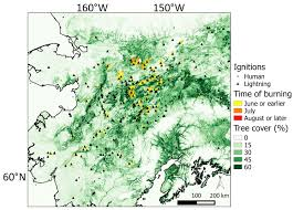 Alaska Fires Map by Carbon Emissions From Boreal Forest Fires Ornl Daac News