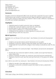 Example Resume For Waitress by Professional Community Development Officer Templates To Showcase