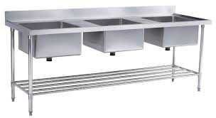 3 compartment stainless sinks 3 bowl commercial kitchen sinks