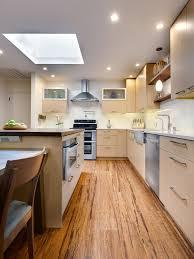 Kitchen Flooring Wood - kitchen brown wooden modern kitchen flooring with white