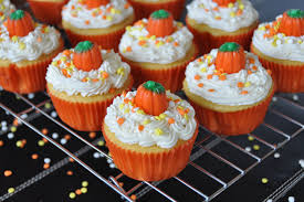 cake mix frosting and decorations make these scary cupcakes the