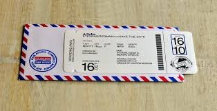 boarding pass save the date boarding pass invitation or save the date design fee royal blue