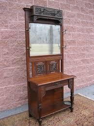 lg traditional dark wood u0026 mirror entry hall tree coat hat rack