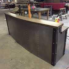 custom made reception desk custom made restaurant business sleek metal front desk reception
