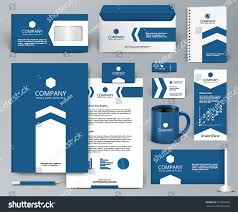 professional blue luxury branding design kit stock vector