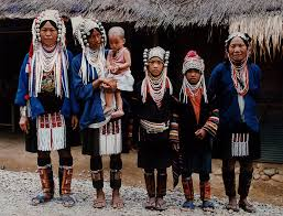 indigenous of akha tribal family in northern