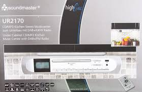 soundmaster highline ur2170si under cabinet fm dab cd player