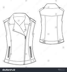 biker waistcoat vector illustration biker waistcoat stock vector 186371963