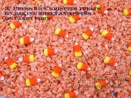bake the outlaw mom tm u0027s halloween candy corn rice krispies