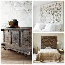 Carved Wood Headboard Carved Wood Panel Headboards And Cabinet Shutters Via Paint