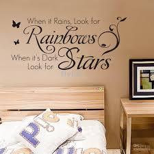 when rains look for rainbows dark stars when rains look for rainbows dark stars vinyl wall lettering stickers quotes home art decor decals