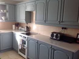 Painting Kitchen Cabinets Blue Interior Blue Grey Painted Kitchen Cabinets With Regard To