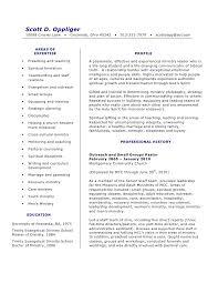 Teenage Resume Examples by Ministry Resume Sample