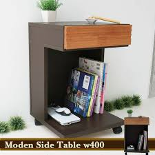 side table with laptop storage atom style rakuten global market side table with casters