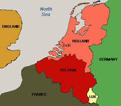 belgium and netherlands map background