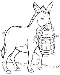 donkey clipart black white free clipart images 2 clipartix