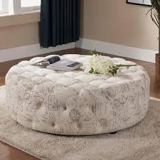 white round tufted ottoman coffee table blue ottoman coffee table grey white round tufted