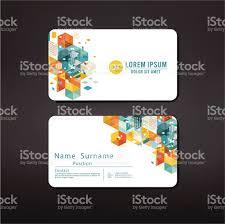 Credit Card Design Template Modern Geometric Business Cards Design Template Layout Stock