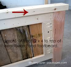 Wood Pallet Headboard Wood Pallet Bed Simplykierste Com