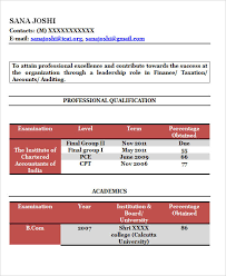 Fresher Accountant Resume Sample by 30 Fresher Resume Templates Download Free U0026 Premium Templates