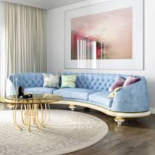 Curve Sofa by Large Luxury Blue Upholstered Curved Sofa Juliettes Interiors