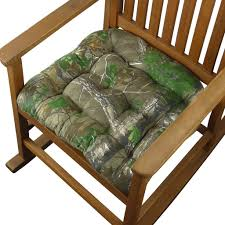 Rocker Cushions Realtree Xtra Green R Camo Rocking Chair Cushions Latex Foam