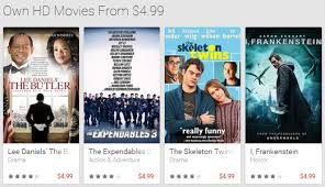 google play store offering some movie titles at a discounted price
