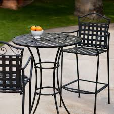 small garden bistro table and chairs belham living wrought iron bar height bistro set woodard with