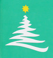 stencil christmas tree christmas lights decoration