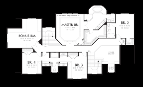 Floor Plan With Garage by Mascord House Plan 2422 The Fireglow