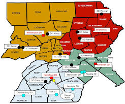 map of williamsport pa central region