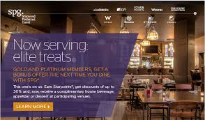 restaurant discounts gold and platinum spg members earn special discounts and bonus