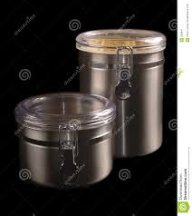 stainless steel kitchen containers stock image image 182841