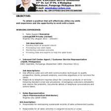 Sales Associate Resume Job Description by Resume Form Samplenon Disclosure Agreement Cover Letter For Sales