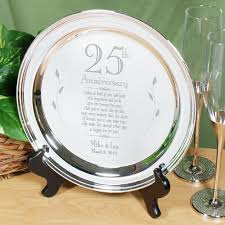 25th anniversary plates personalized personalized plate 25th silver anniversary keepsake plate