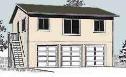apartment garage plan 1632 1 by behm design ideas for new