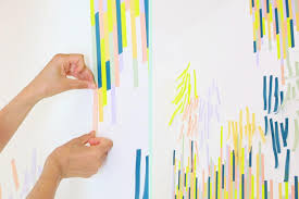 Washi Tape Wall by Washi Tape Wall Tutorial The Symmetric