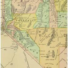 map of nevada map nevada 1891 original antique maps prints