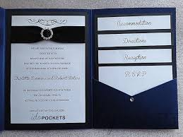 rustic pocket wedding invitations royal dark blue shimmer wedding invitations diy pocket fold