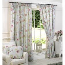 White Curtains With Blue Pattern Interior Beautiful White Curtains With Green Leaves Brings
