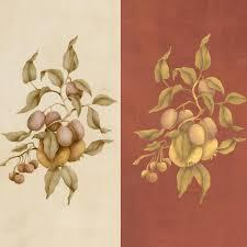 wall stencils pear plum botanical fruits set royal design plum fruit wall stencils for diy wall mural art