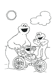 free monster coloring pages printable cookie book