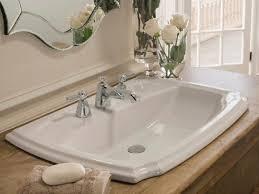 Narrow Bathroom Sink Vanity by Bathroom Sink Single Basin Double Faucet Bathroom Sink Double