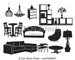 free living room furniture living room furniture vector illustration search clipart drawings