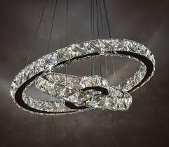 crystal rings wholesale images K9 crystal modern chandelier wholesale with 3 rings jpg