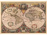 old world map wall mural by henricus hondius circa 1630