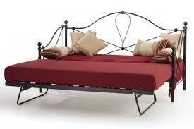 serene lyon 2ft6 small single black metal day bed with under bed