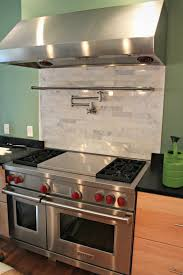 Kitchen Pot Filler Faucets Home Design Terrific Backsplash Behind Stove With Pot Filler