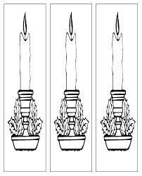 candles bookmarks coloring page