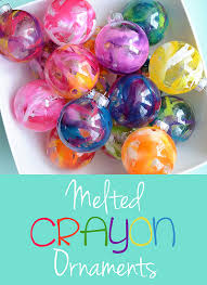 melted crayon ornaments melted